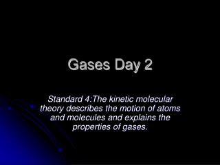 Gases Day 2