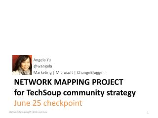 Network Mapping Project f or  TechSoup  community strategy June 25 checkpoint