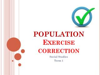 POPULATION Exercise correction