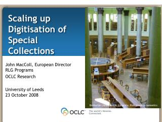 Scaling up Digitisation of Special Collections