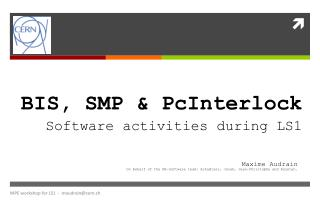 BIS, SMP & PcInterlock Software activities during LS1