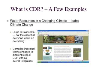 What  is CDR? – A Few Examples