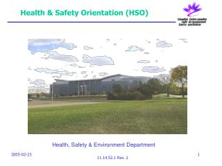Health & Safety Orientation (HSO)