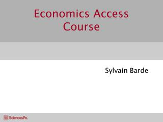 Economics Access Course