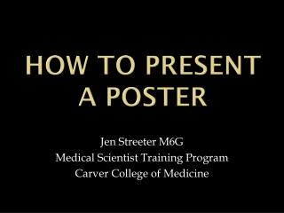 How to present a poster