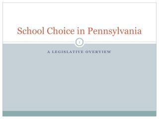 School Choice in Pennsylvania