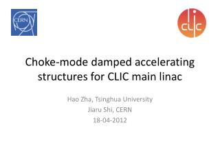 Choke-mode damp ed  accelerating structures for CLIC main  linac