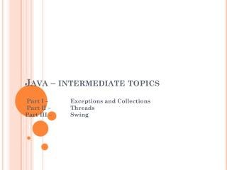 Java – intermediate topics