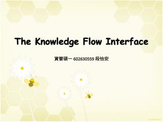 The Knowledge Flow Interface