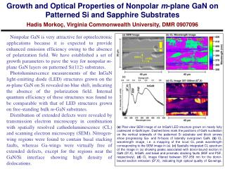 Growth and Optical Properties of  Nonpolar m -plane  GaN  on Patterned Si and Sapphire Substrates