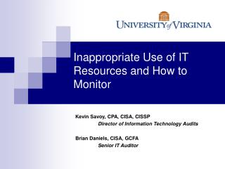 Inappropriate Use of IT Resources and How to Monitor