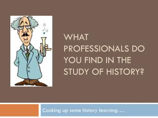 What professionals do you find in the study of history?