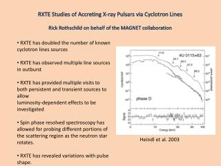 RXTE Studies of Accreting X-ray Pulsars via Cyclotron Lines