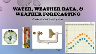 Water, Weather data, & weather forecasting