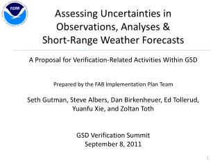 Assessing Uncertainties in                    Observations , Analyses &