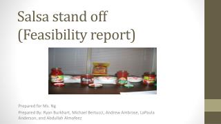 Salsa stand off (Feasibility report)