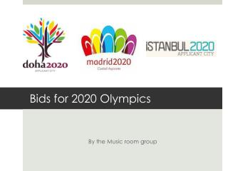Bids for 2020 Olympics