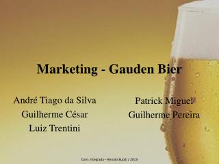 Marketing -  Gauden  Bier