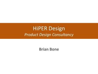 HiPER  Design Product Design Consultancy