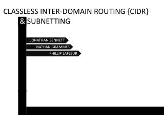 CLASSLESS INTER-DOMAIN ROUTING {CIDR } &  SUBNETTING
