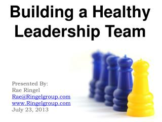 Building a Healthy Leadership Team