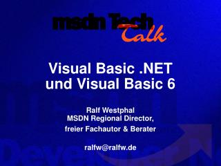 Visual Basic .NET und Visual Basic 6
