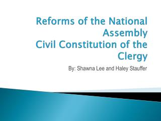 Reforms of the National  Assembly Civil Constitution of the Clergy