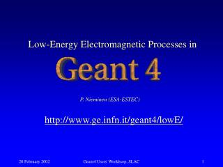 Low-Energy Electromagnetic Processes in
