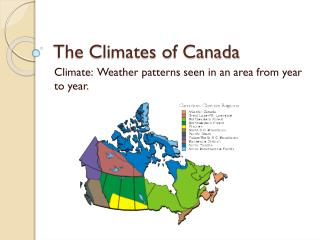 The Climates of Canada