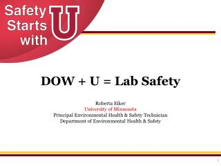 DOW + U = Lab Safety