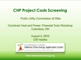 CHP  Project Costs Screening