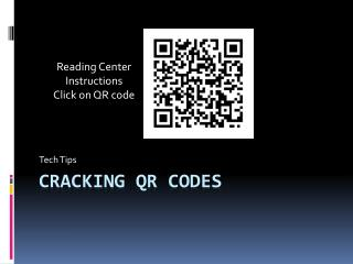 Cracking  qr  codes