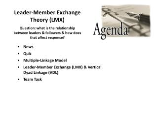 Leader-Member Exchange Theory LMX