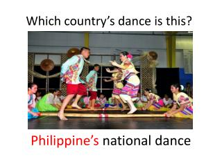 Which country's dance is this?
