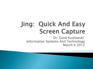 Jing:  Quick And Easy Screen Capture