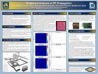 Shipboard Analysis of RF Propagation