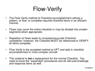 Flow-Verify
