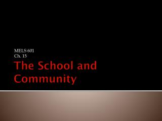 The School and Community