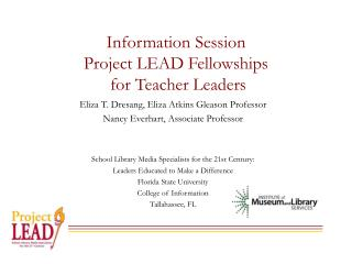 Information Session Project LEAD Fellowships  for Teacher Leaders
