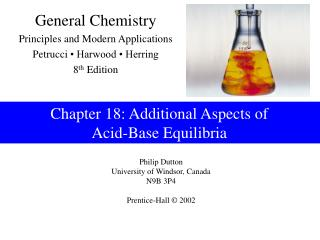 18 Additional Aspects of Acid-Base Equilibria