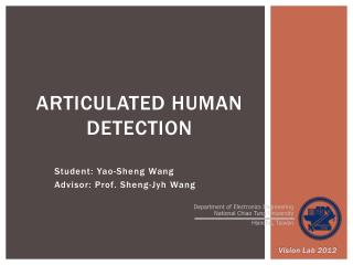 Articulated Human  Detection