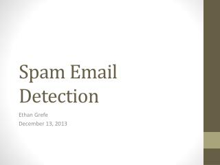 Spam Email Detection