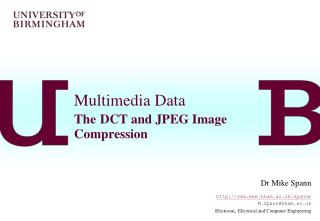 Multimedia Data The DCT and JPEG Image Compression