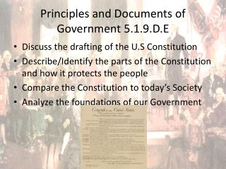 Principles and Documents of Government 5.1.9.D.E