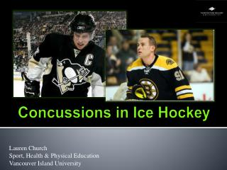 Concussions in Ice Hockey