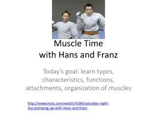 Muscle Time  with Hans and Franz