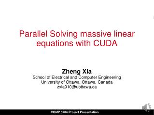 Parallel Solving massive linear equations with CUDA