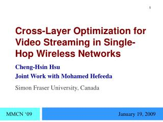 Cross-Layer Optimization for Video Streaming in Single-Hop Wireless Networks