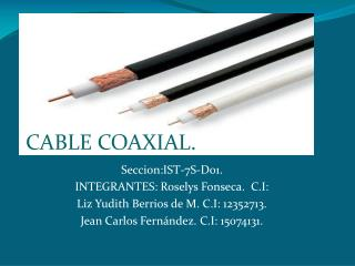 CABLE COAXIAL.