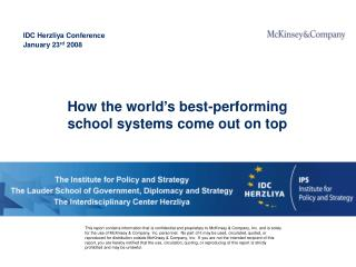 How the world's best-performing school systems come out on top
